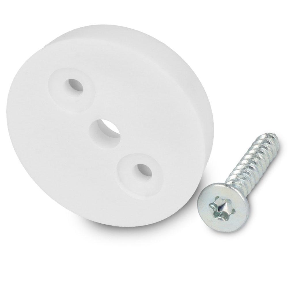 Schraubstopper rund, Weiß, Torx, Gleiter-Ø: 24 mm