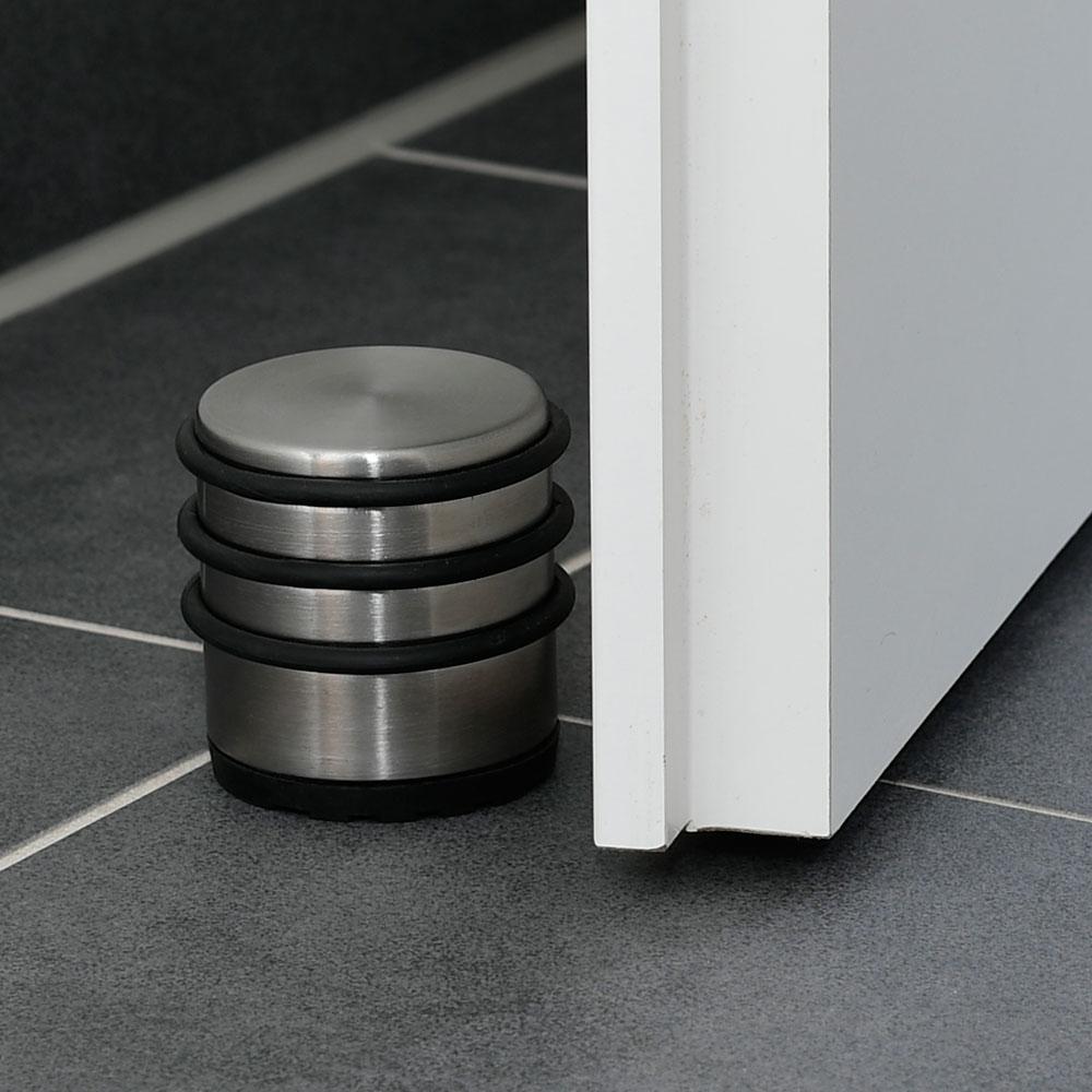 Türstopper rund in Edelstahl-Optik