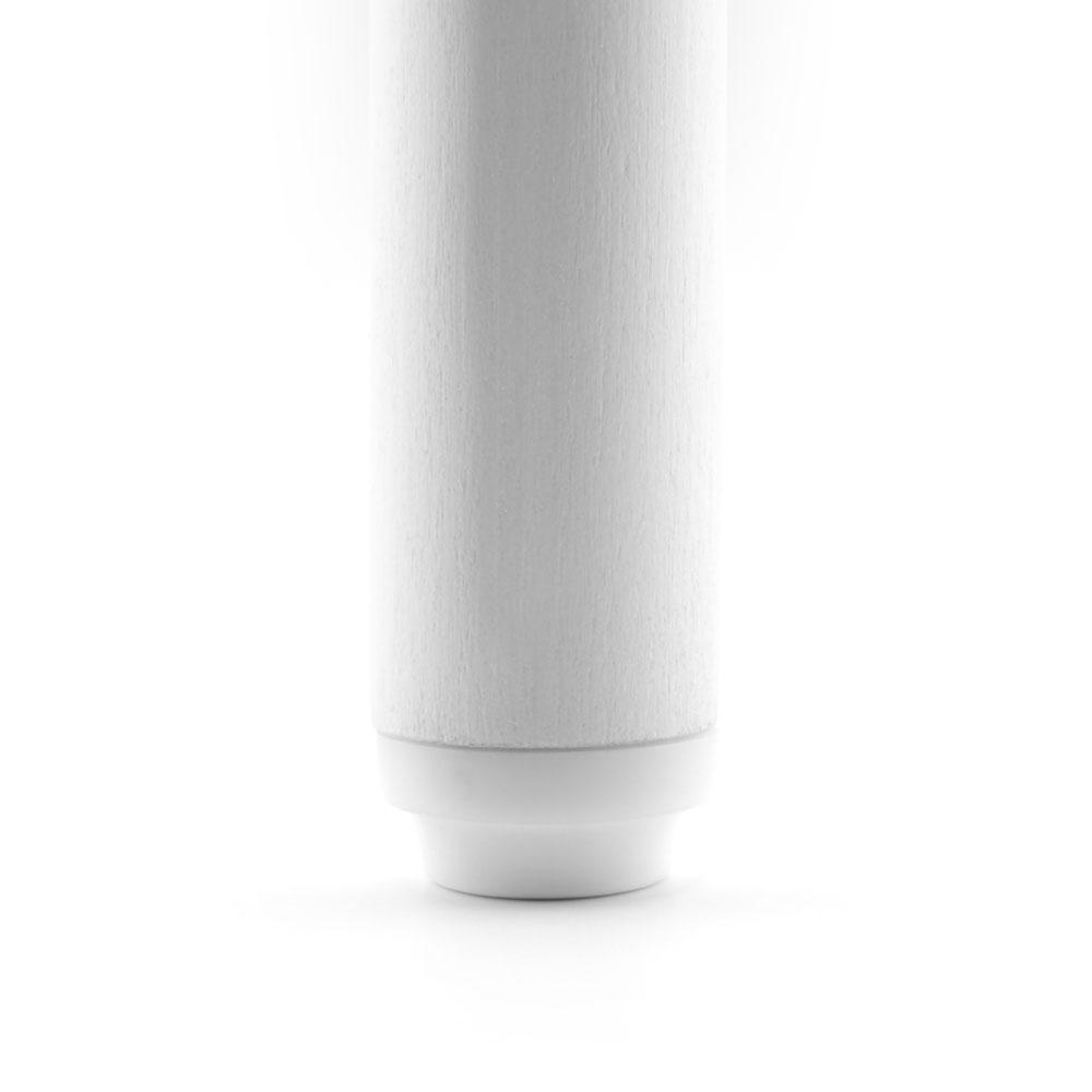 Möbelstopper weiß rund Kreuzschraube - 28 mm