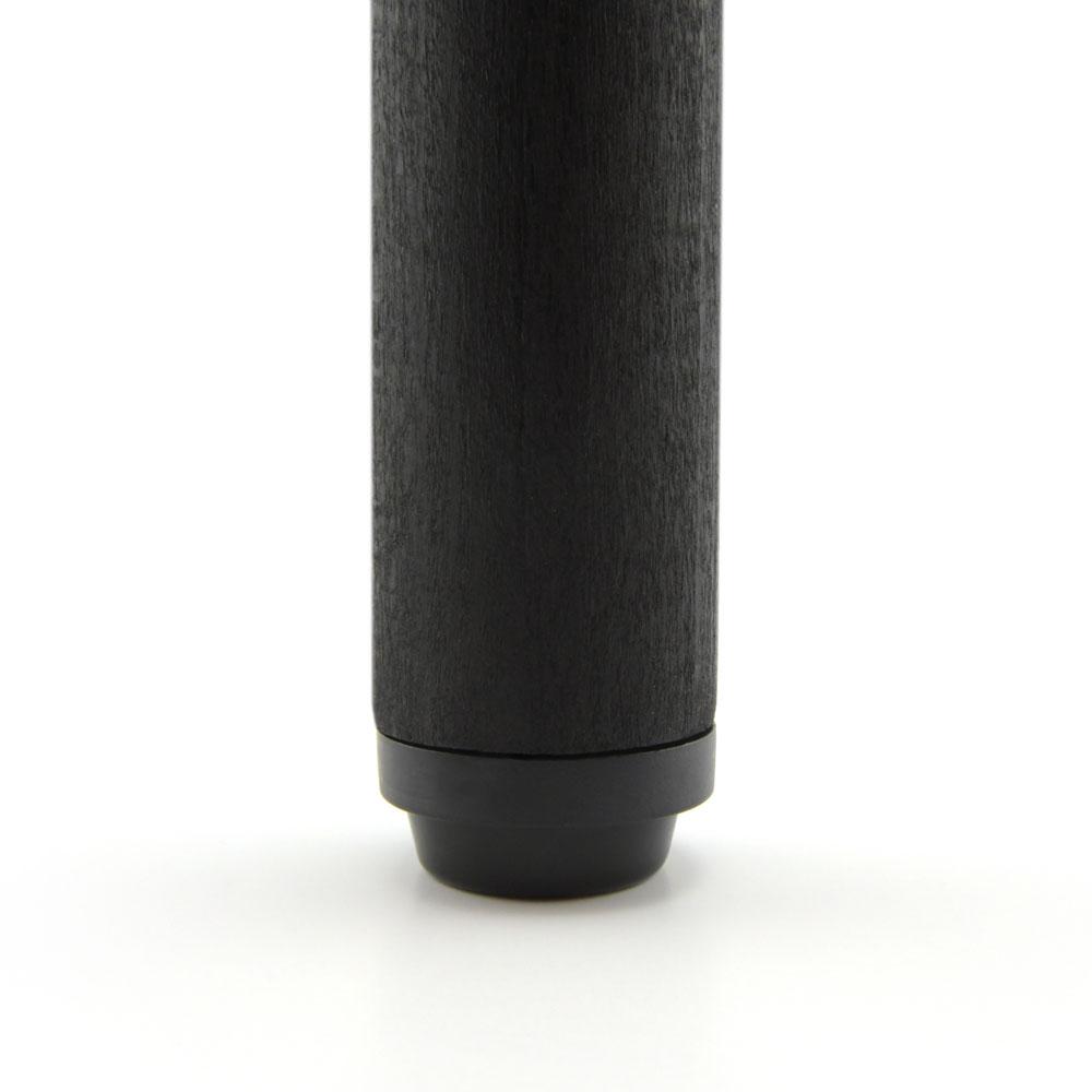 Möbelstopper schwarz rund Kreuzschraube - 24 mm
