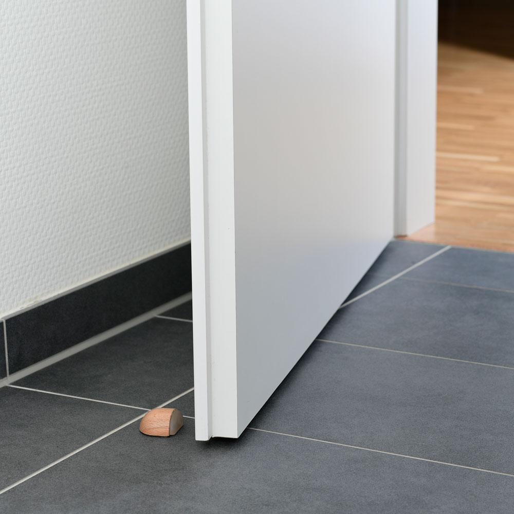 Bodentürstopper halbrund aus Buchenholz