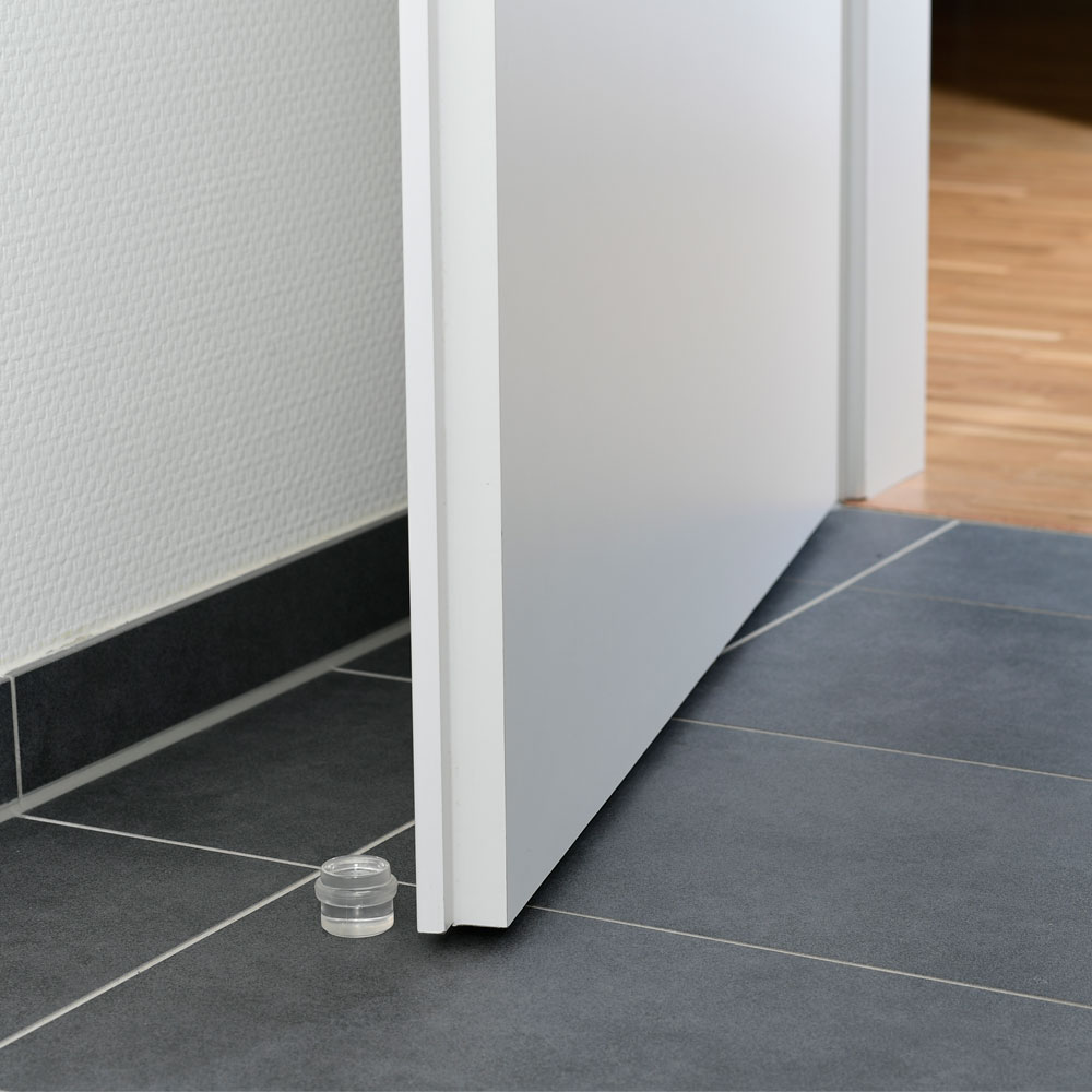 Bodentürstopper rund aus Kunststoff