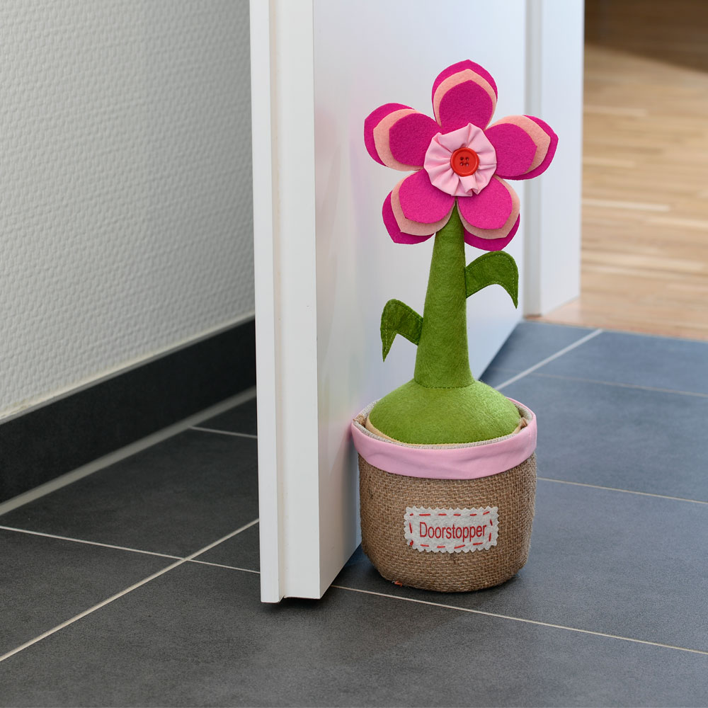 Textiler Türstopper Blume