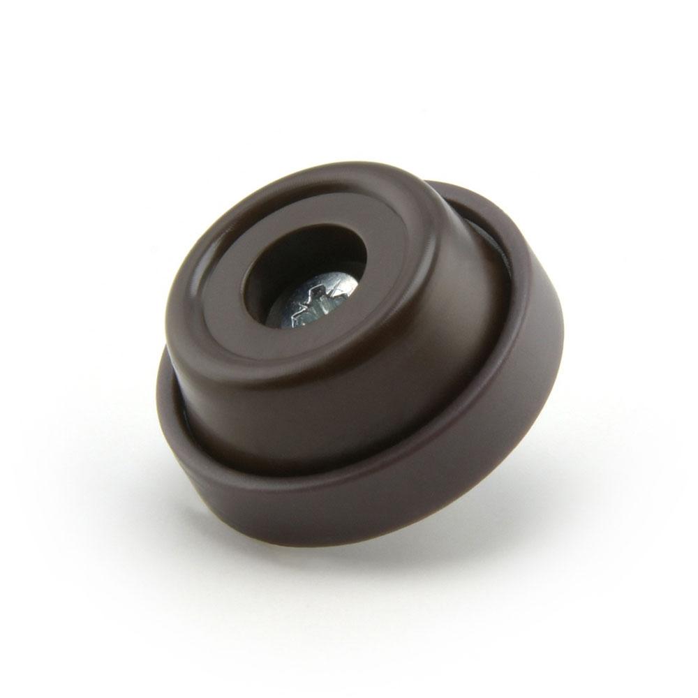 Möbelstopper braun rund Kreuzschraube - 28 mm