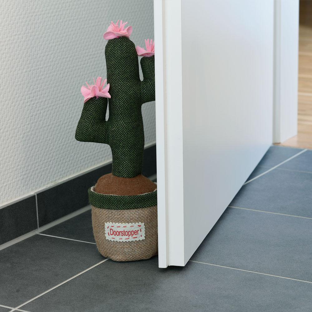 Textiler Türstopper Kaktus