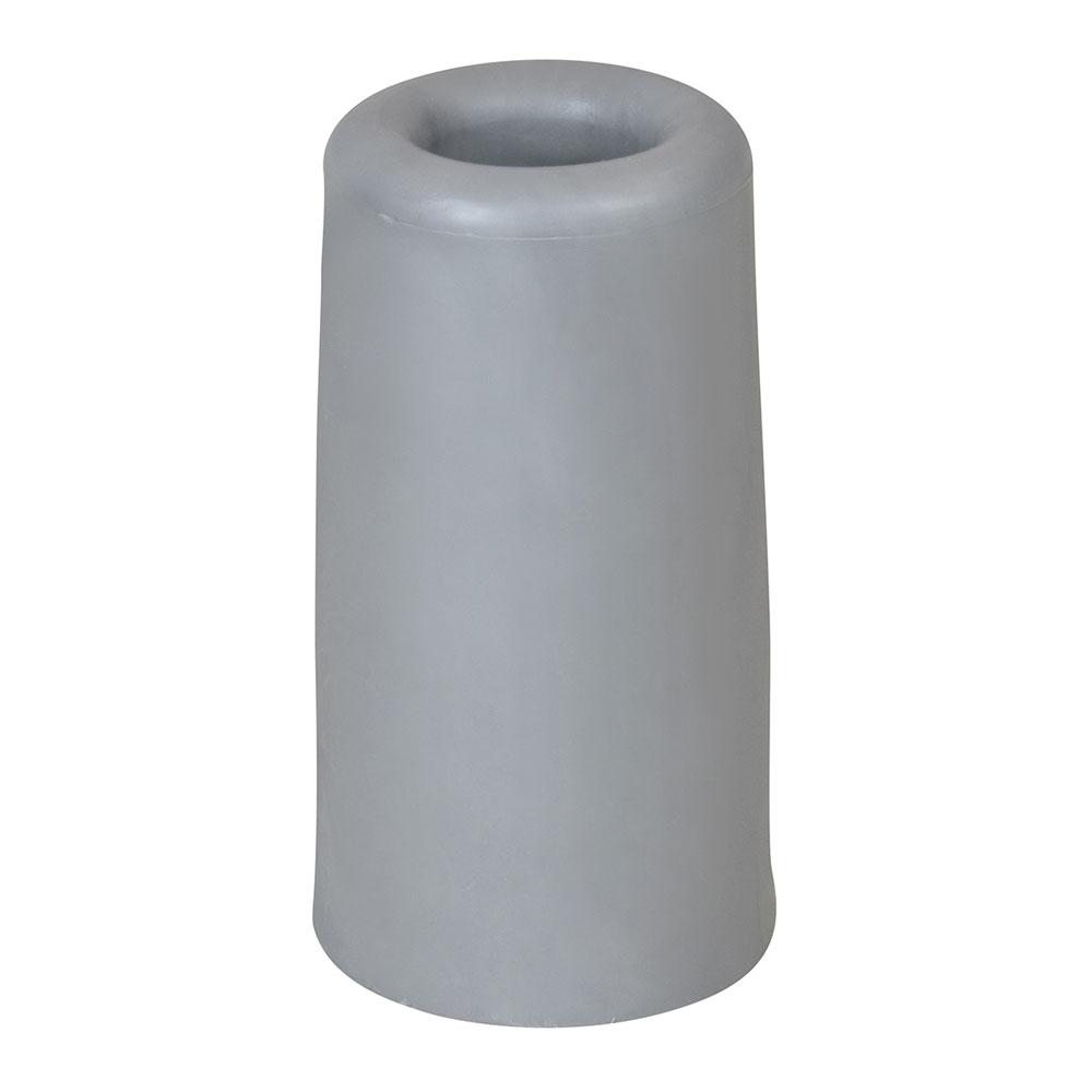Türstopper aus Vollgummi rund - grau