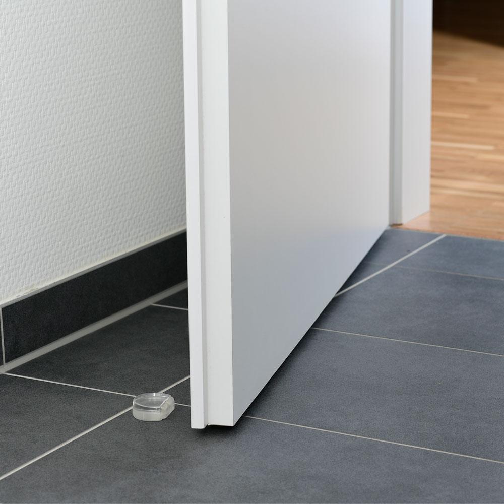 Bodentürstopper flach aus Kunststoff
