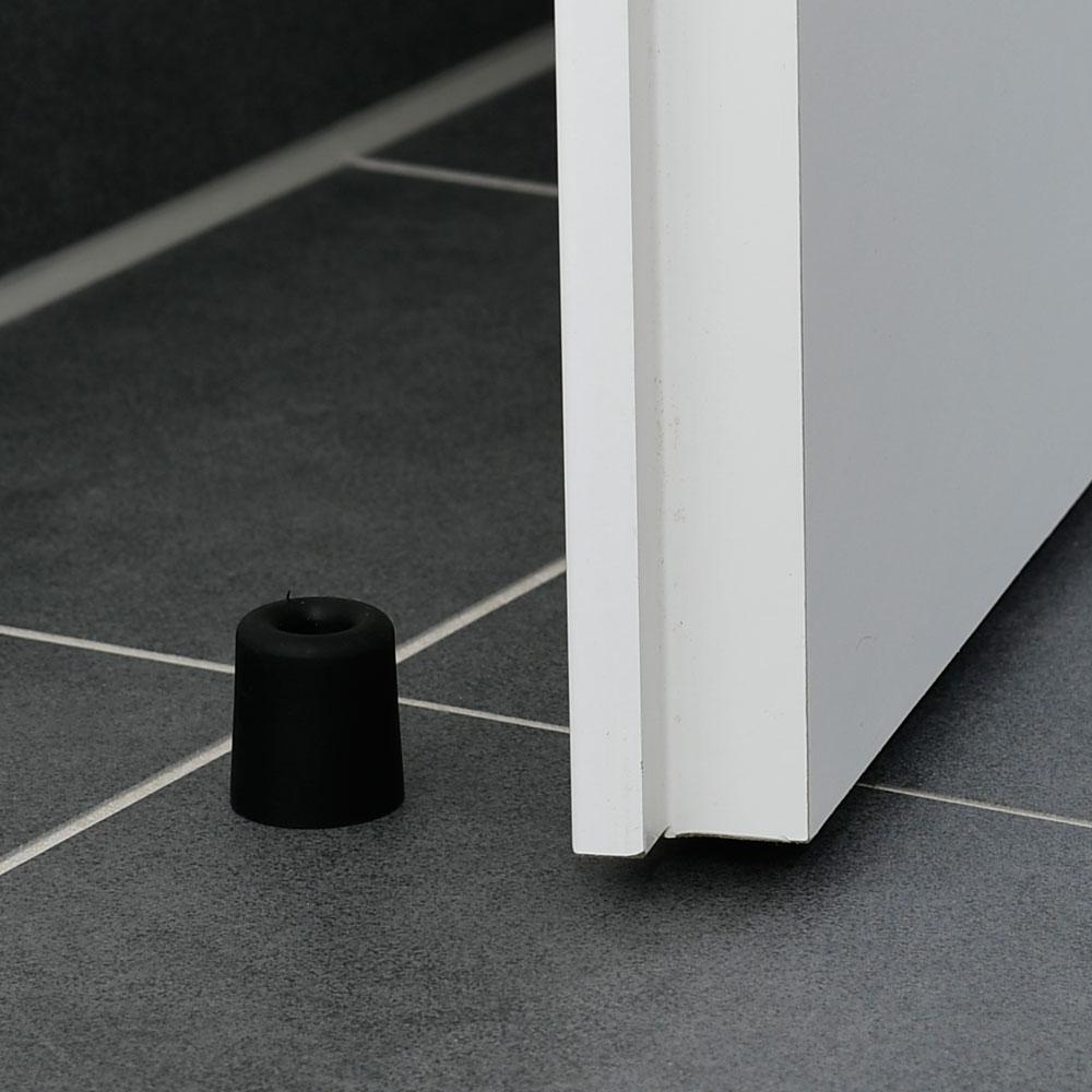 Türstopper aus Vollgummi rund - schwarz