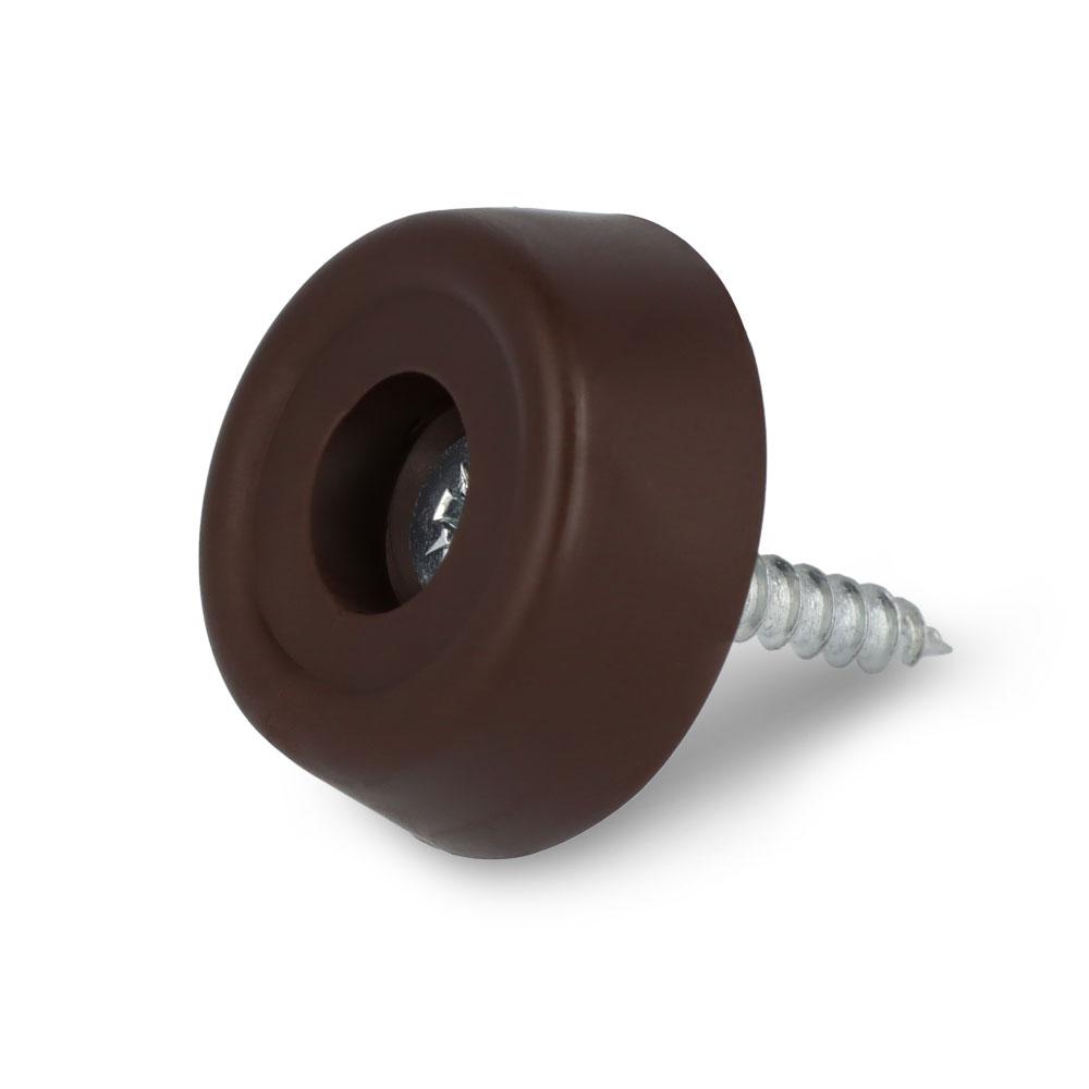 Schraubstopper rund, Braun, Kreuz, Gleiter-Ø: 20 mm