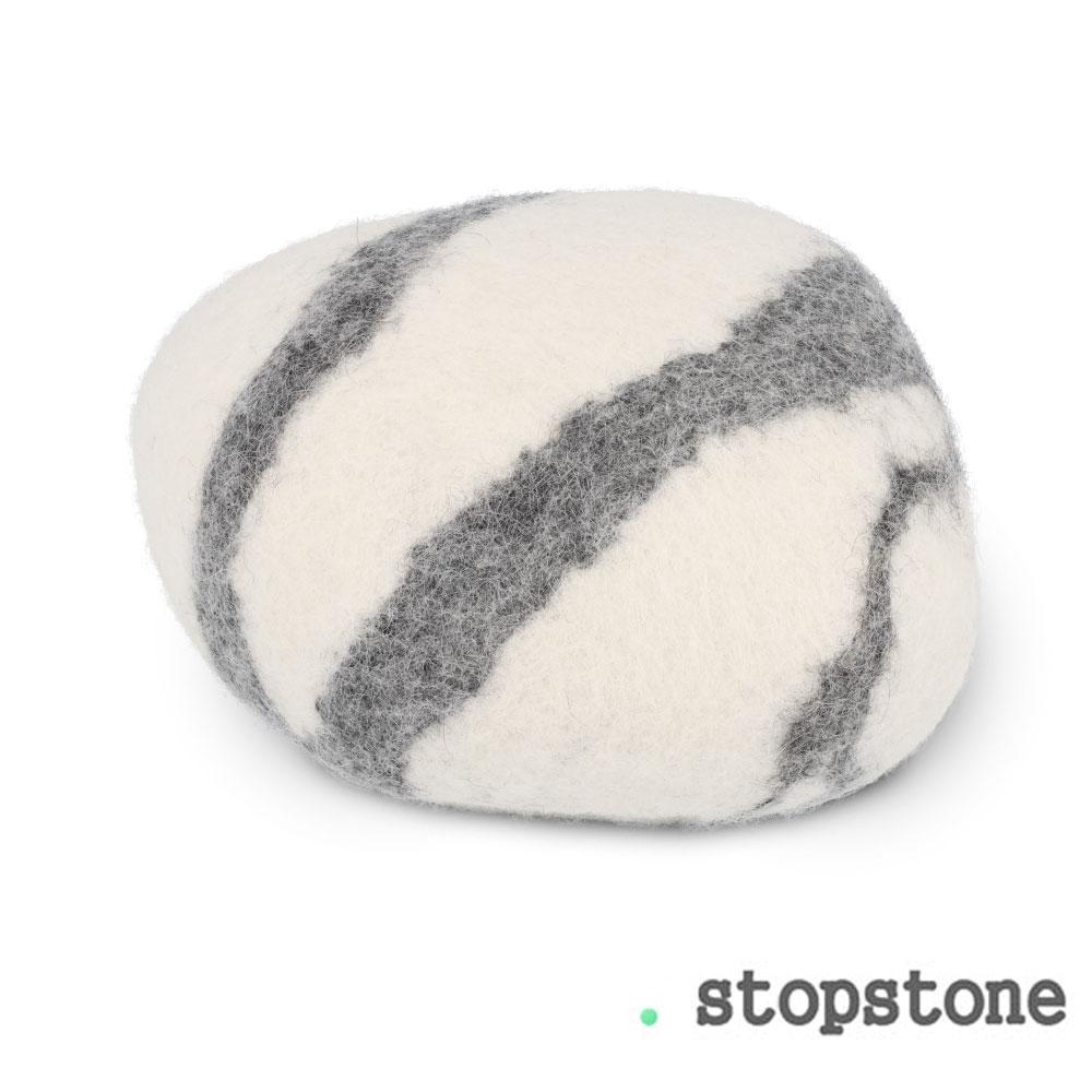 Türstopper Stopstone - WEISS-GRAU - 1 Stück - ca. 1 kg