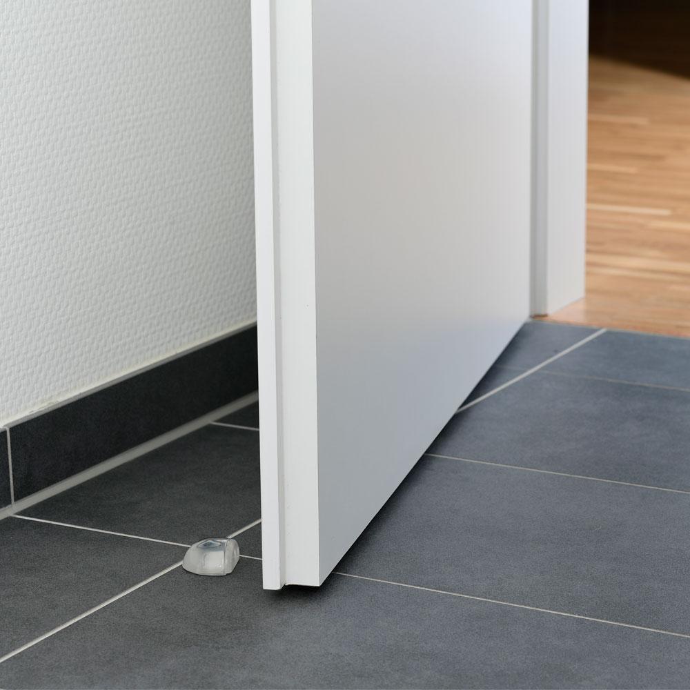 Bodentürstopper halbrund aus Kunststoff