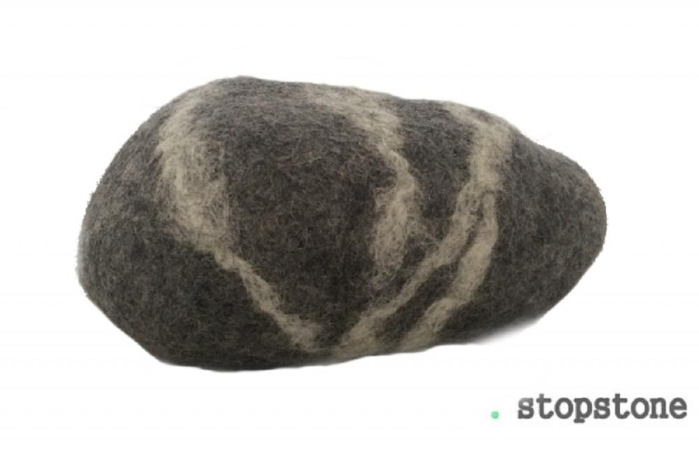 Türstopper Stopstone - GRAU - 1 Stück - ca. 1 kg