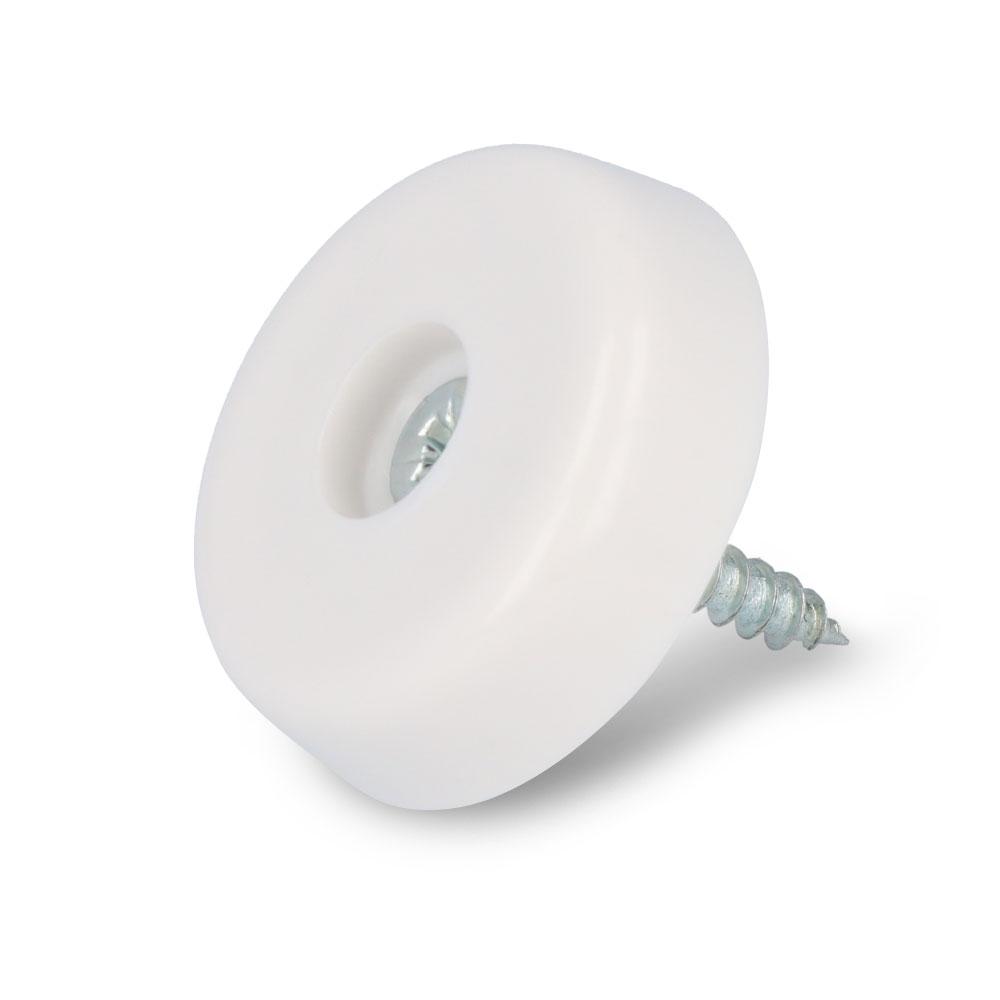Schraubstopper rund, Weiß, Kreuz, Gleiter-Ø: 24 mm